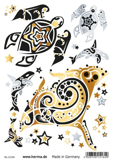 HERMA 15184 5x FLASH Tattoo Ocean