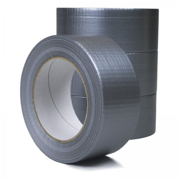 48 mm x 50 m Gewebeband Panzertape Steinband Tape Silber