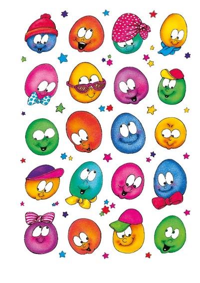 HERMA 5444 10x Sticker DECOR Lustige Gesichter