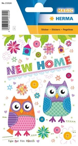 HERMA 15324 10x Sticker MAGIC New Home, Folie