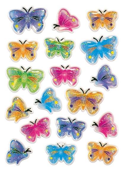 HERMA 5251 10x Sticker MAGIC Schmetterlinge, Stone