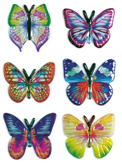 HERMA 6103 10x Sticker MAGIC Schmetterlinge, Goldprägung