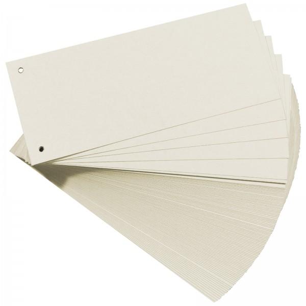 Trennstreifen aus Manilakarton 10,5 x 24 cm 160 g/m² Weiß