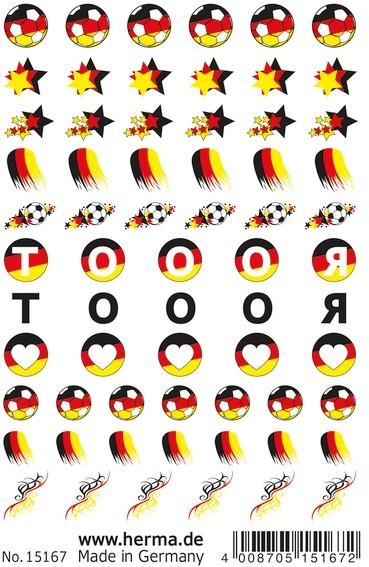 HERMA 15167 10x CLASSIC Nail Tattoo German Star