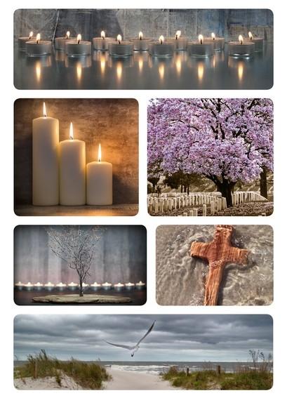 HERMA 15119 10x Traueretiketten Kerzen