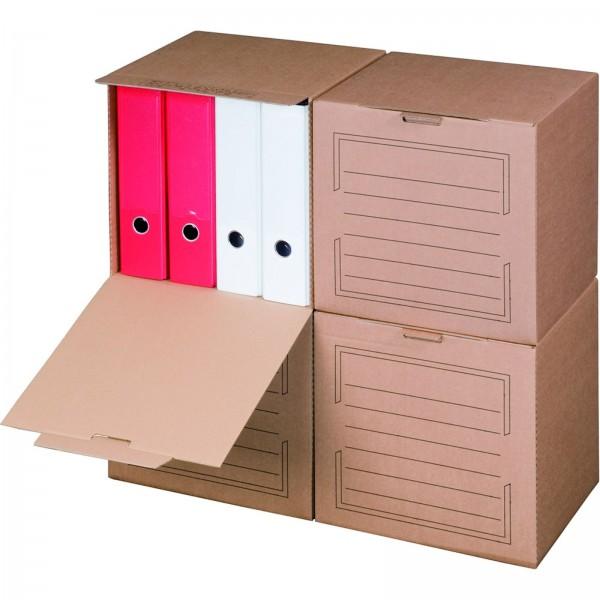 Archivcontainer für Ordner 297 x 334 x 330 mm Braun