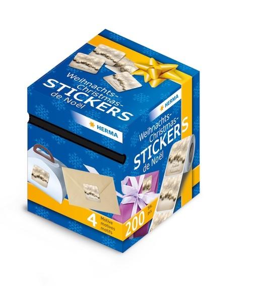 HERMA 15137 Weihnachtssticker, Weihnachtskugeln, 200 Sticker auf