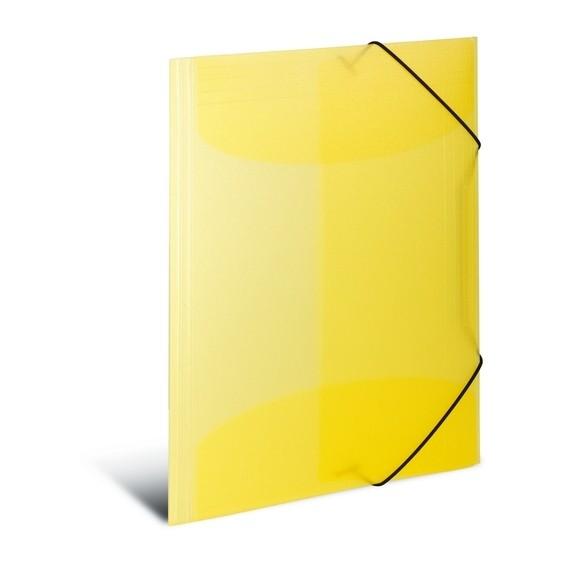 HERMA 19514 3x Sammelmappe A3 PP transluzent gelb