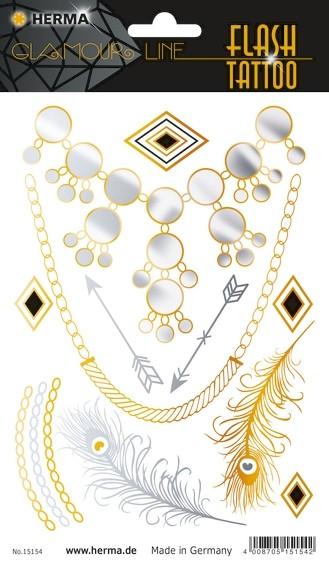 HERMA 15154 5x FLASH Tattoo Diamonds