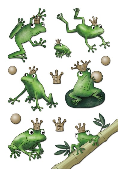 HERMA 3263 10x Sticker MAGIC Froschkönig, Jewel