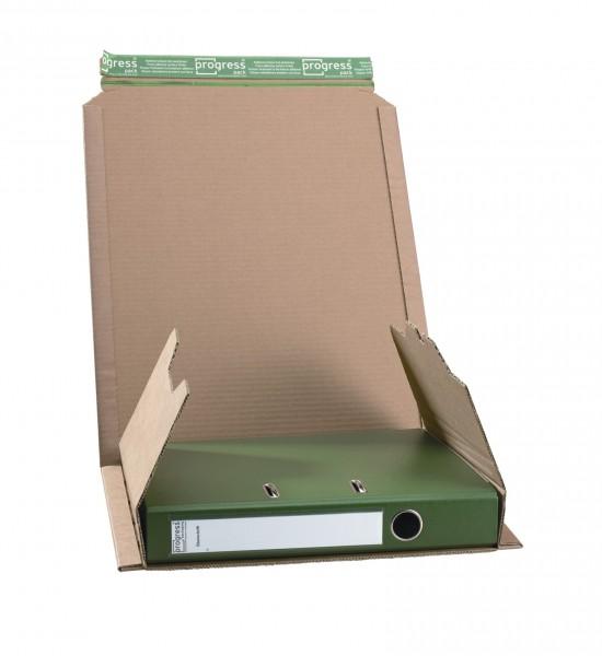 320 x 290 x 35-80 mm Ordner-Versandverpackung (braun)