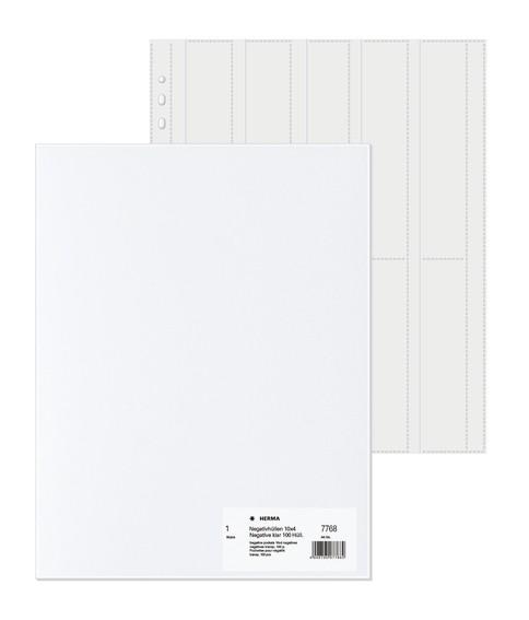 HERMA 7768 Negativhüllen, transparent, für 10 x 4 Streifen, 100