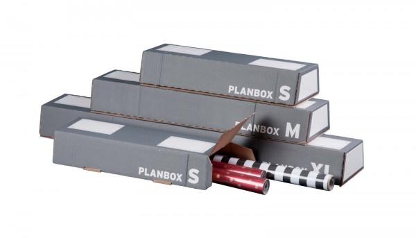 Versandhülse für DIN A0 selbstklebend 860 x 145/108 x 75 mm in Anthrazit