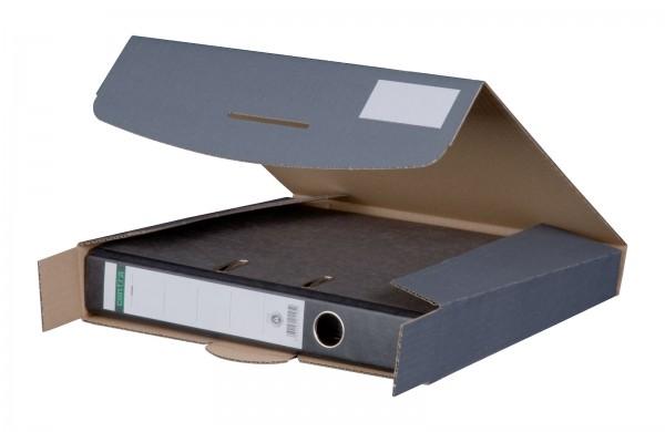 Ordnerversandkarton 320 x 288 x 50 mm mit Steckverschluss Anthrazit