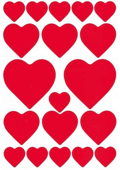 HERMA 3827 10x Sticker DECOR Herzen rot