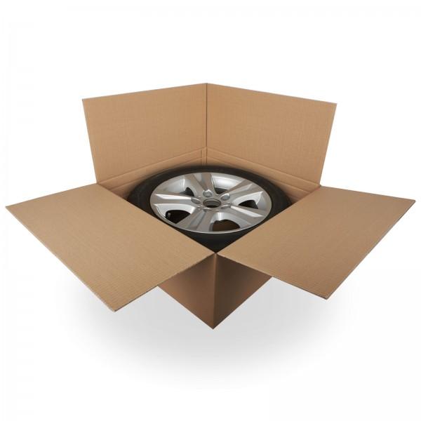 Reifenkarton für 15-19 Zoll Felge 66 x 66 x 30 cm (2-wellig)