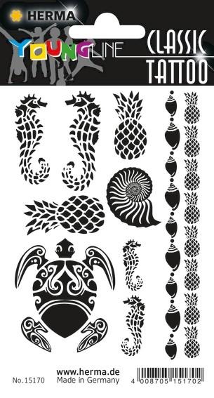 HERMA 15170 10x CLASSIC Tattoo Black Caribbean