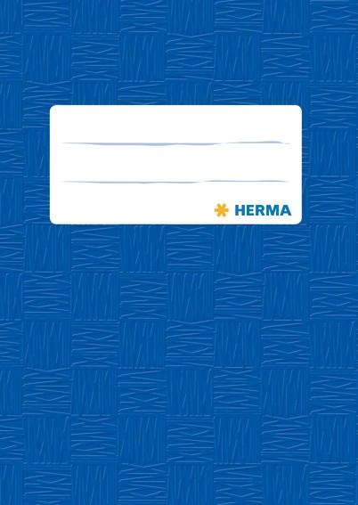 HERMA 7403 2500x Heftschoner PP A6 hoch gedeckt/dunkelblau