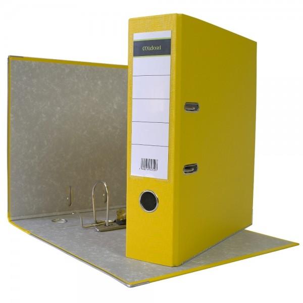 Ordner A4 8 cm PP Kunststoff Gelb Aktenordner Briefordner