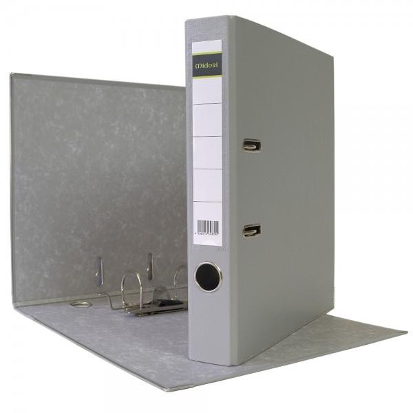 Ordner A4 5 cm PP Kunststoff Grau Aktenordner Briefordner
