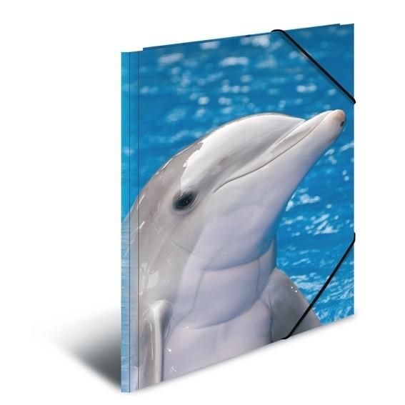 HERMA 7141 3x Sammelmappe A4 PP - Delfin