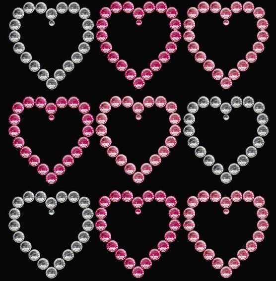 HERMA 15386 3x Crystal Sticker Kleine Herzen