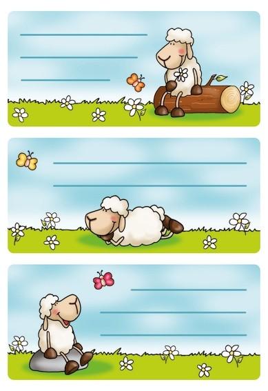HERMA 5592 10x Schuletiketten Schafe