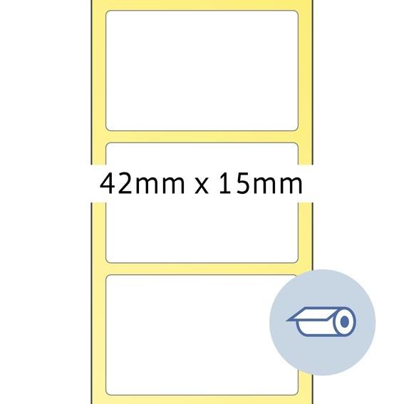 HERMA 4061 Rollenetiketten Thermotransfer 42x15 mm weiß Papier s
