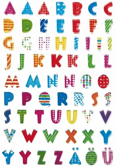 HERMA 6291 10x Sticker MAGIC Buchstaben, Stone geprägt