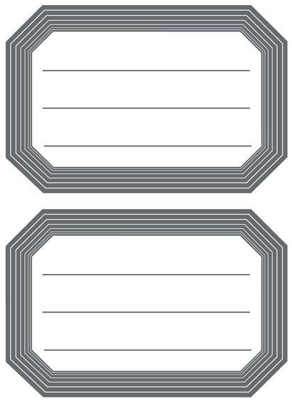 HERMA 5719 10x Schuletiketten neutral grauer Rand liniert 82x55
