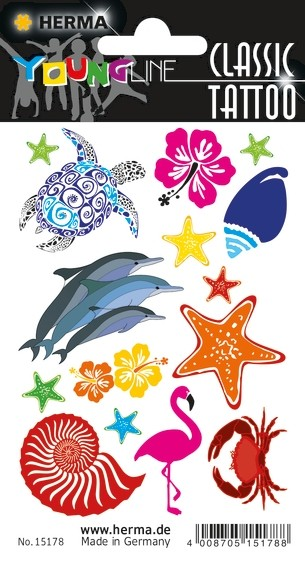 HERMA 15178 10x CLASSIC Tattoo Colour Ocean