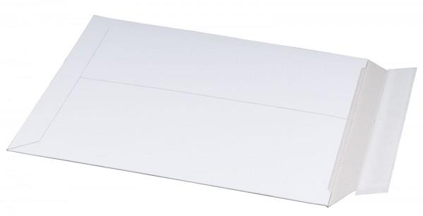 Vollpappe-Versandtasche 309 x 447 x 30 mm DIN A3 mit Aufreißfaden & Selbstklebeverschluss Weiß
