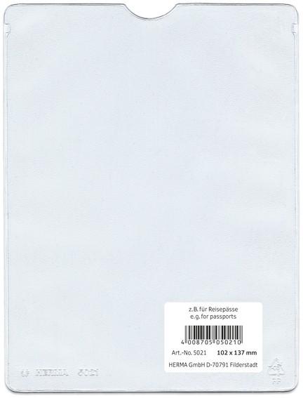 HERMA 5012 25x Ausweishüllen 52x75 mm für Dokumente Format DIN A