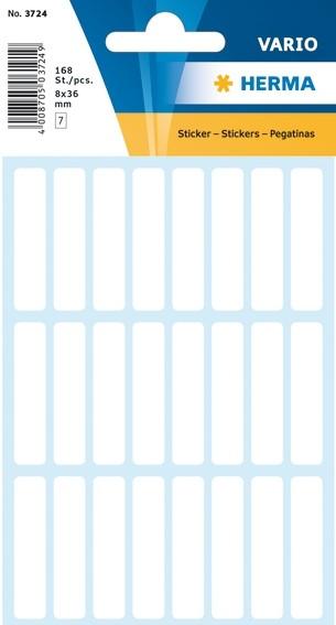 HERMA 3724 Vielzwecketiketten 8x36 mm weiß Papier matt 1680 St.