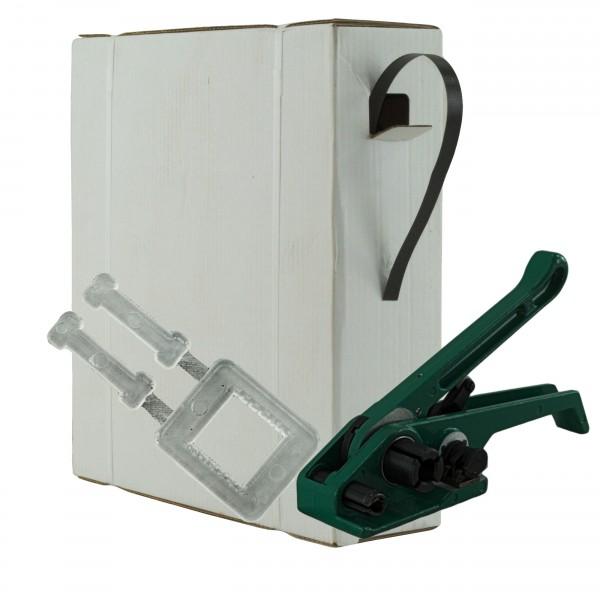 16 mm PP Umreifung Set Umreifungsband Bandspanner Kunststoffklem