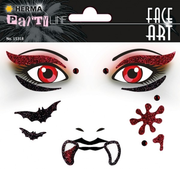 HERMA 15318 5x Face Art Sticker Vampir