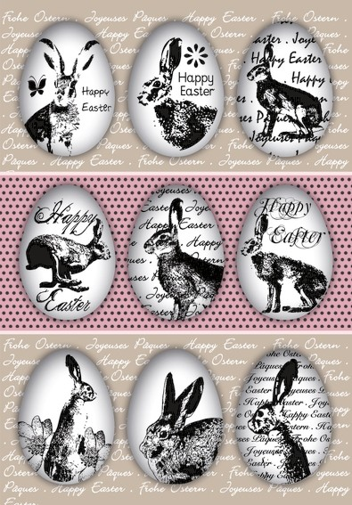 HERMA 1723 10x Sticker DECOR Happy Easter Eierhasen