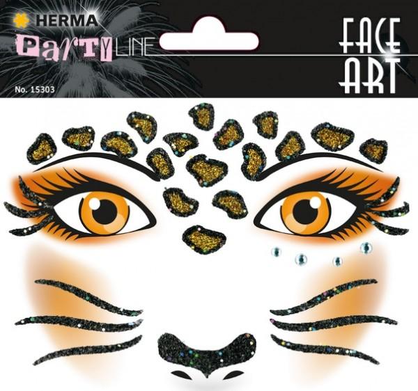 HERMA 15303 5x Face Art Sticker Leopard