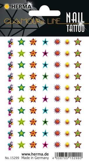 HERMA 15299 10x CLASSIC Nail Tattoo Cosmic Stars