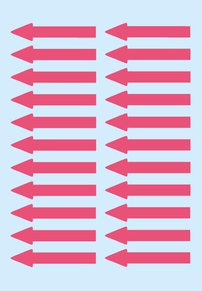 HERMA 4143 Hinweisetiketten Pfeile leuchtrot, Papier 38x7 mm 880