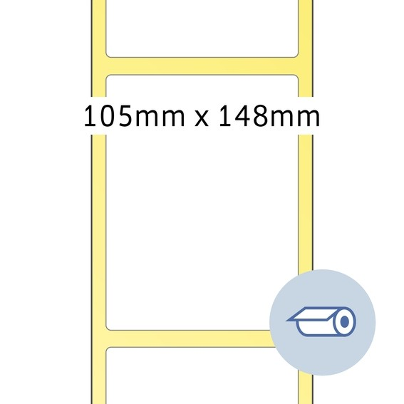 HERMA 4095 Rollenetiketten Thermotransfer 105x148,5 mm weiß Papi