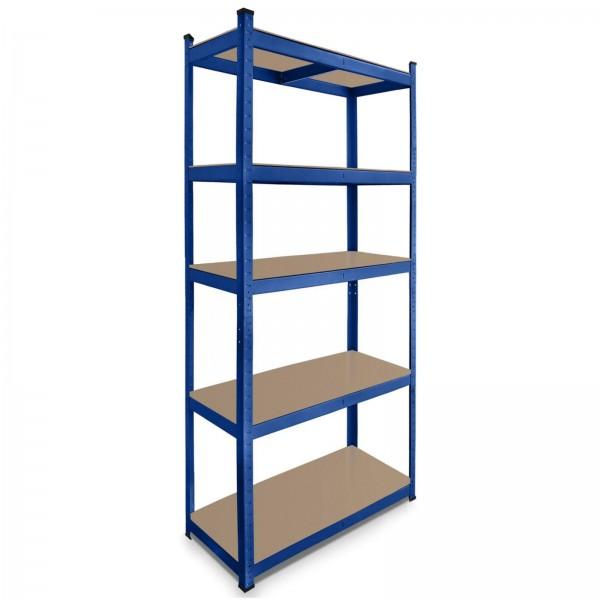 Lagerregal 180 x 90 x 40 cm Steckregal 875 kg blau