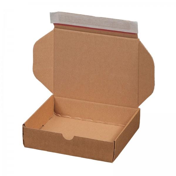 Versandkarton 192 x 155 x 43 mm mit Selbstklebeverschluss & Aufreißfaden