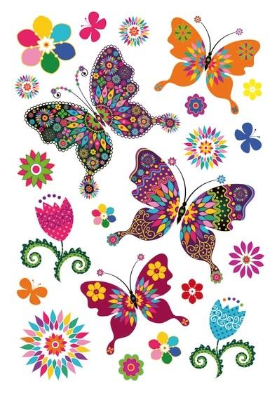 HERMA 3174 10x Sticker MAGIC Schmetterlingsvielfalt, Glitterfoli
