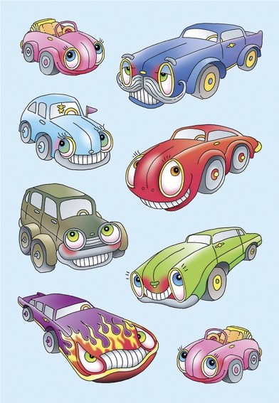 HERMA 6099 10x Sticker MAGIC Autos, geprägt