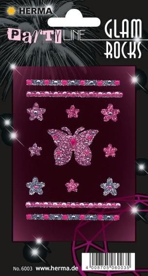 HERMA 6003 10x Glam Rocks Schmetterlinge