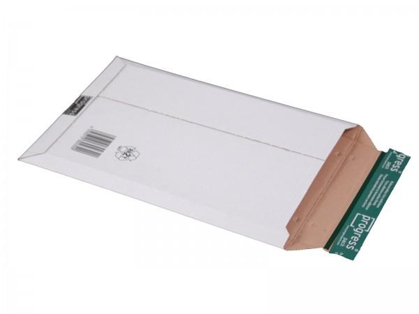 352 x 250 x -40 mm Versandtasche aus Wellpappe (weiß)