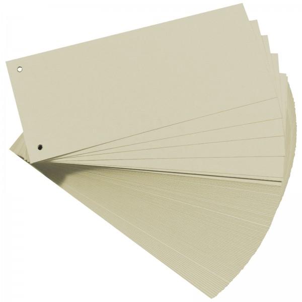 Trennstreifen aus Manilakarton 10,5 x 24 cm 160 g/m² Grau