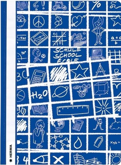 HERMA 19362 10x Schnellhefter A4 SCHOOLYDOO dunkelblau