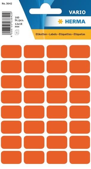 HERMA 3642 Vielzwecketiketten 12x18 mm rot Papier matt 1600 St.